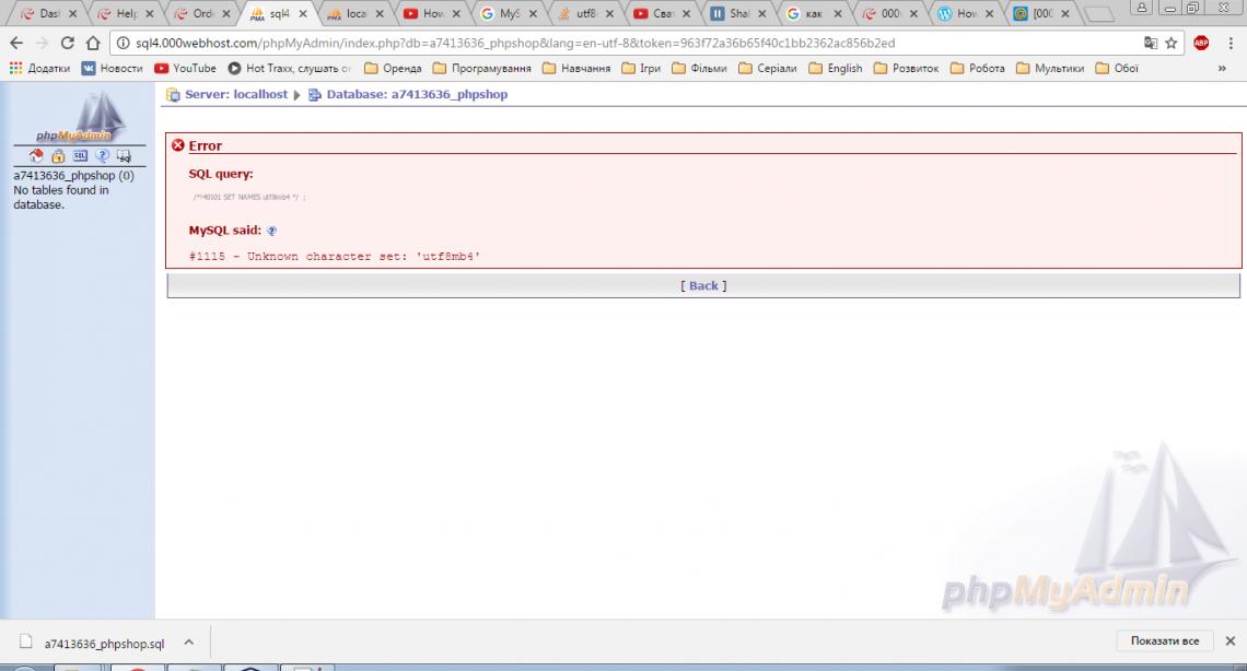 """Solucionado: Error 1115 MySQL con """"utf8mb4"""" - El Desarrollador Web"""